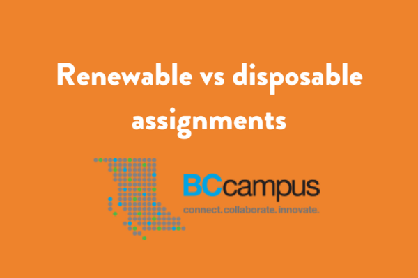 How do faculty benefit from renewable assignments? by George Veletsianos