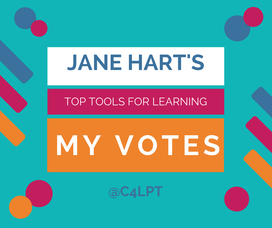 My votes on Jane Hart's Top Tools for Learning