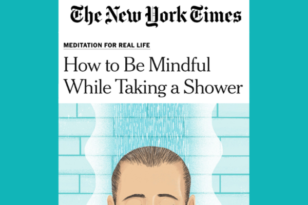 How to be Mindful While Taking a Shower